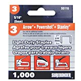 Light Duty, Chisel Point, 5/16'' Arrow JT21 Type Staple, 1000/Box, 5 Pack