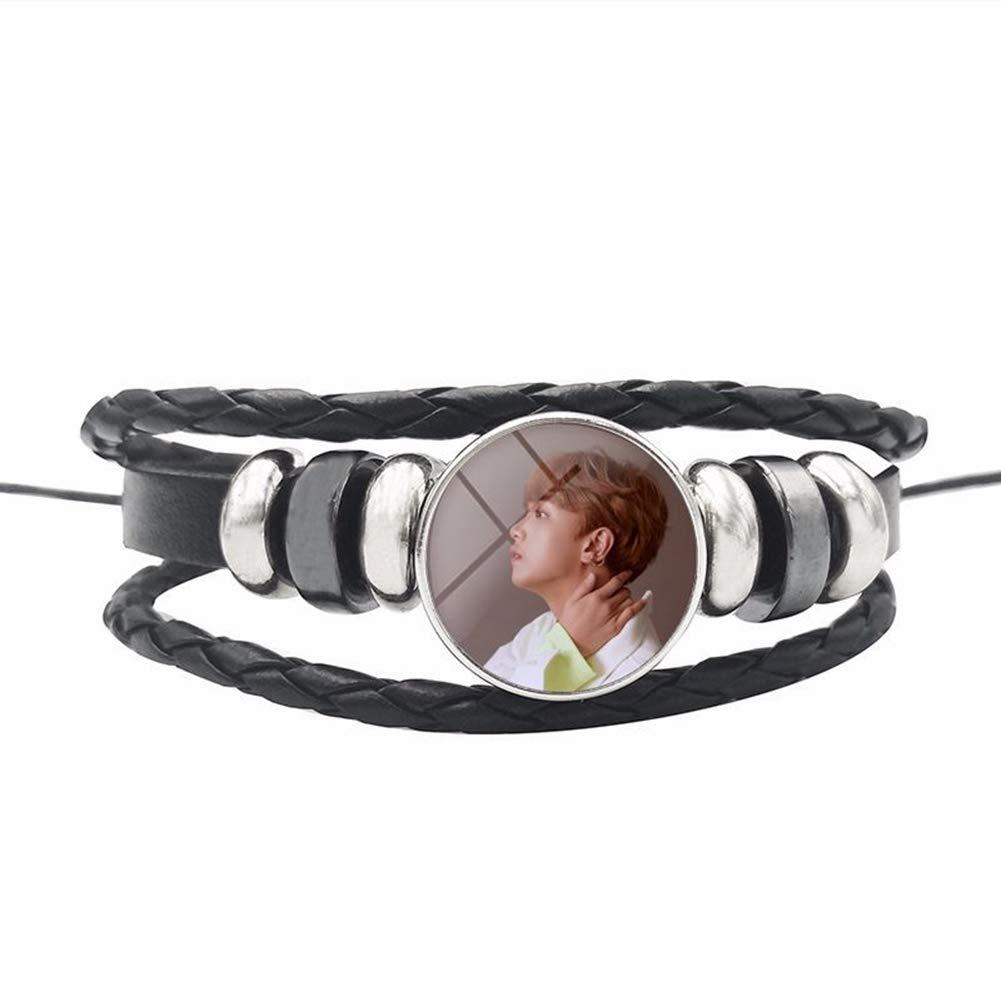 Bosunshine 2019 Kpop NCT New Album 《NCT 127 Regular-Irregular》Braided Leather Bracelet for Fans