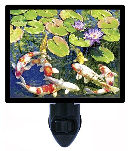 (Night Light, Koi Pond, Fish, Lily Pads LED Night Light)