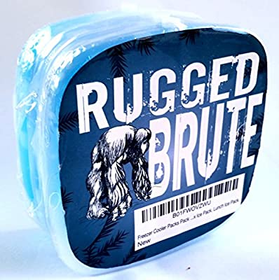 Rugged Brute, Lunch Box Ice Packs, Solid and Reusable. Perfect For Lunch Box Or Cooler. BPA-Free and Non Toxic, 4 Per Pack.