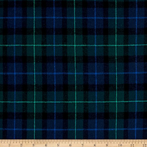 Newcastle Fabrics Yarn Dyed Flannel Plaid Fabric by the Yard, Black ()