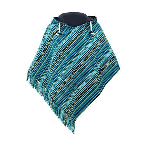 virblatt- cotton poncho dames poncho jas hippie poncho ladies poncho for women Reversible multicolor baja poncho women…