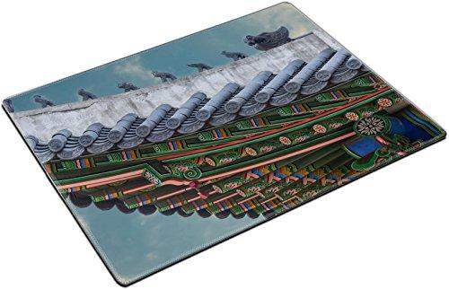 MSD Place Mat Non-Slip Natural Rubber Desk Pads design 34624426 The gable roof of Deoksugung palace Seoul South Korea