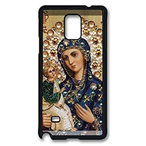 Loving Virgin Mary Christian and Cute Child Baby Jesus Case for Samsung Galaxy Note 4 Back Protector -Black20341