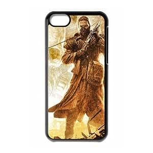 Caído del teléfono celular de la Tierra 10.421 Funda iPhone 5C Caso Negro A8M3FCSB teléfono celular estuche rígido de Moda