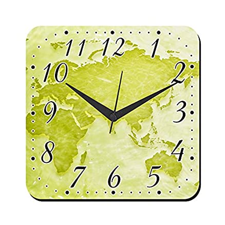Buy mesleep world map wall clock online at low prices in india mesleep world map wall clock sciox Images