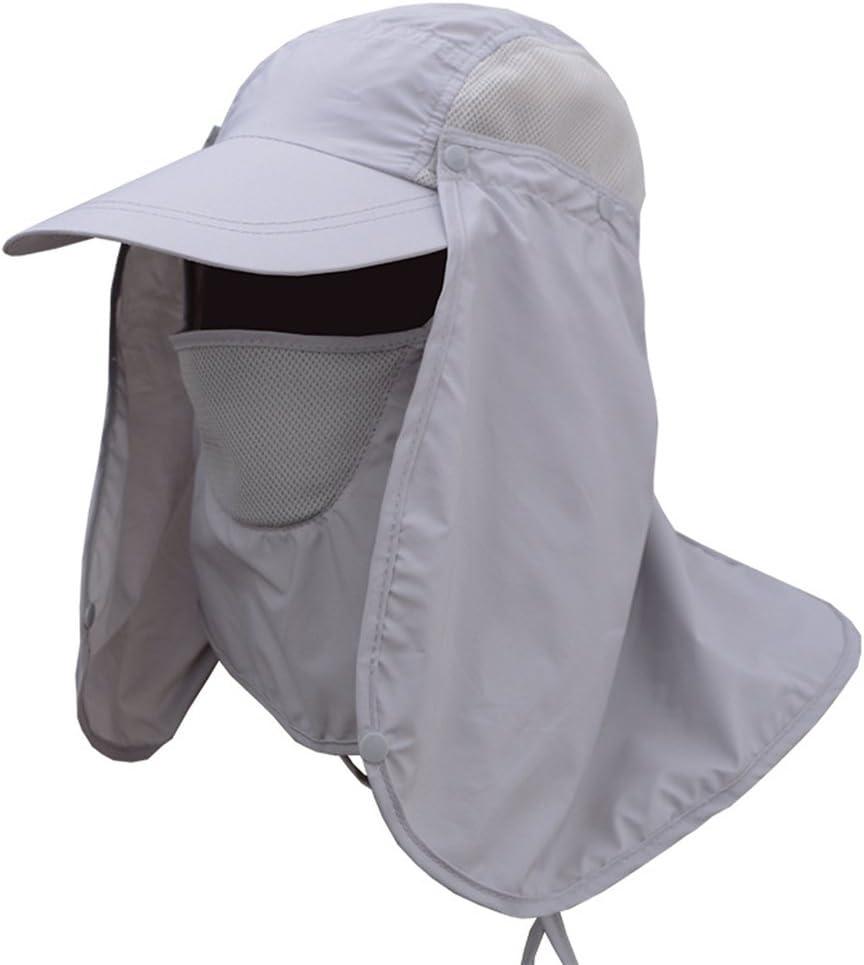 Deruicent Fishing Hat Folding Sun Hat 360 UV Protection Adjust Cap for Men Women Hiking Fishing Outdoor Yard Garden Working