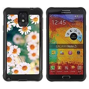LASTONE PHONE CASE / Suave Silicona Caso Carcasa de Caucho Funda para Samsung Note 3 / daisies spring summer yellow white