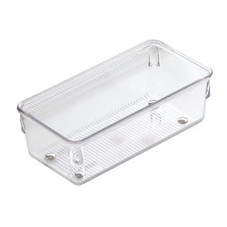 InterDesign Linus Organizador de cajones, cubertero para cajones de cocina pequeño en plástico para guardar
