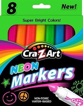 Cra-Z-Art Neon Broadline Markers 10112 8 Count