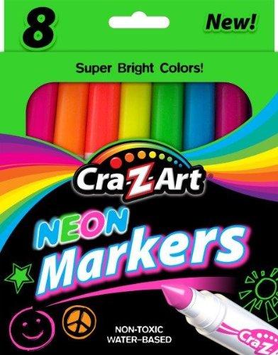 Cra-Z-Art Neon Broadline Markers, 8 Count (10112)