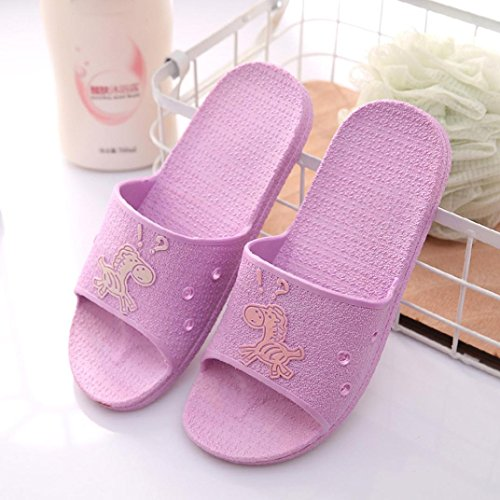Sandales Pantoufles De Bain Dencre | Sandales Dété Des Femmes De La Mode Des Tongs | Chaussures Plates De Plage Anti-dérapant Violet