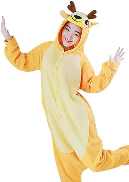 MissFox Disfraces Cosplay de Animales Pijamas Enteros para Adultos Kigurumi Disfraz Pijama Adulto Hombre Mujer Encapuchado