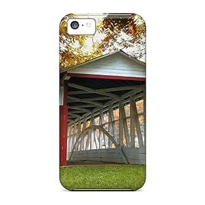 Hot Style Yjnybwk6588KdkzW Protective Case Cover For Iphone5c(rustic Bridge)