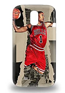 For Galaxy Case High Quality NBA Chicago Bulls Derrick Rose #1 For Galaxy S4 Cover Cases
