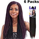 FreeTress Synthetic Hair Braids Senegalese Twist Small (6 Packs, 1B)