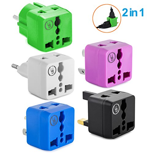 Yubi Power 2 in 1 Universal Travel Adapter with 2 Universal