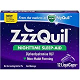 ZzzQuil Nighttime Sleep-Aid LiquiCaps 48 LiquiCaps (Pack of 12)