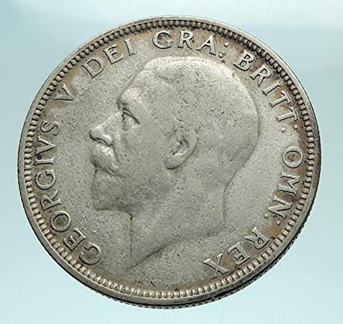 1928 UK 1928 United Kingdom Great Britain GEORGE V AR Flo coin Good Uncertified