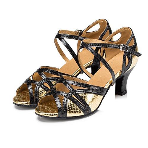 Miyoopark ,  Damen Tanzschuhe , gold - Gold-6cm heel - Größe: 35