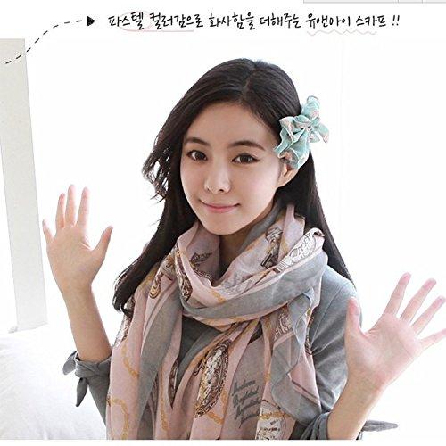 Sieye FASHION Shawl Scarf Bali scarf scarves all-match sunscreen Bali folk style printing long scarf yarn,Pink Watch,165*80CM