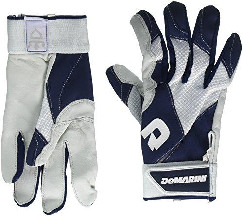 DeMarini Men's Phantom Batting Gloves, Navy, X-Large
