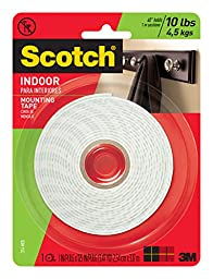 Scotch Indoor Mounting Tape, 1-Inch x 125-Inches, 1-Roll (314P)