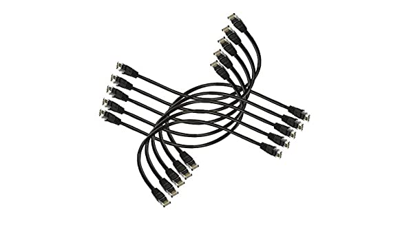 Imbaprice 1 Cat5e Network Ethernet Patch Cable 10 Pack Black