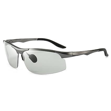 GYYTYJ SSSX Gafas de sol de decoloración de los hombres conducen las gafas de sol de