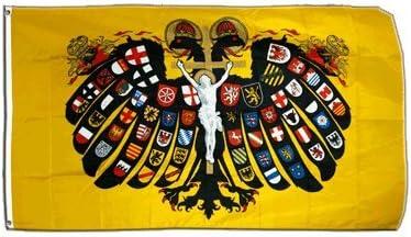 Digni - Bandera con escudo del Sacro Imperio Romano Germánico, águila bicéfala (90 x 150 cm, poliéster): Amazon.es: Deportes y aire libre