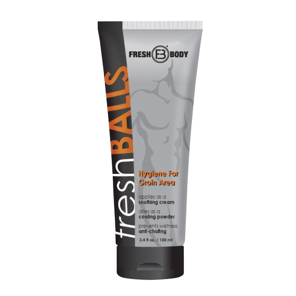 Fresh Balls Lotion The Solution for Men New 3.4oz Tube by Fresh Body FB