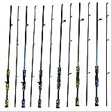 CATCH.U Fishing Rod Carbon Casting Spinning Fishing Pole Sea Saltwater Freshwater Fishing Rod,1.7M,Green Blue Yellow,Rod Power M,Line Weight 6-15lb,Weight 105g,Lure Weight 1/8-3/4oz by ABC Fishing Store CATCH.U