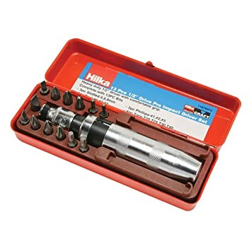 Hilka 11670013 Destornillador impacto Kit Craft Pro 13 piezas 1/2