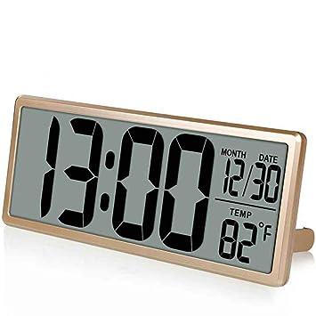 QZTG Despertador Digital Reloj De Pared Digital Grande, Reloj Despertador Escritorio Gigante, Pantalla LCD