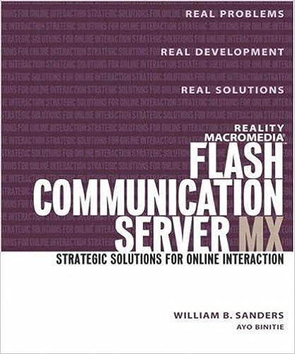 Reality Macromedia Flash Communication Server MX: Strategic