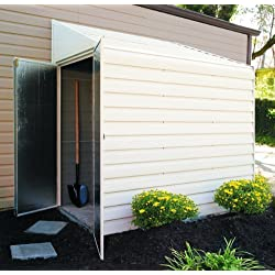 Arrow Yardsaver Pent Roof Steel Storage Shed, Eggshell, 4 x 7 ft.