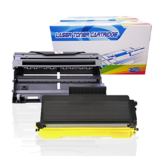 Inktoneram Compatible Toner Cartridge & Drum Replacement for Brother TN580 TN550 DR520 DR-520 TN-580 TN-550 Set DCP-8060 DCP-8065 DCP-8065DN HL-5240 HL-5250 HL-5250DN HL5250DNT HL5280 (Drum,Toner,2PK)