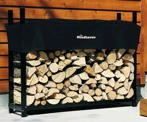 5' Woodhaven Firewood Rack and Standard Cover by Woodhaven