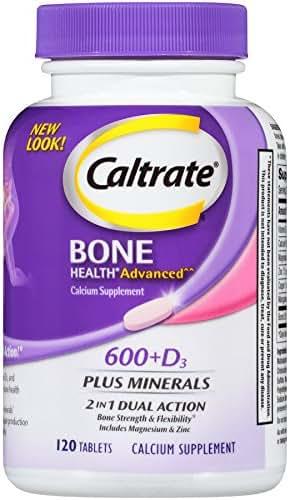 Caltrate 600+D3 Plus Minerals (120 Count) Calcium & Vitamin D3 Supplement Tablet, 600 mg