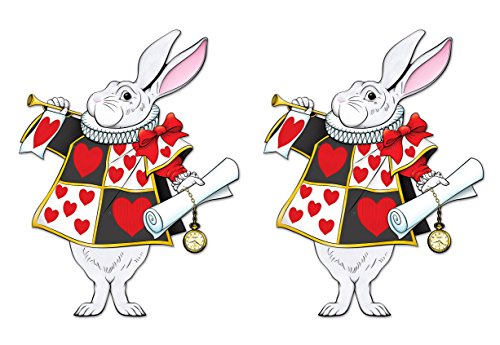 Beistle 59936 2 Piece Jointed White Rabbits, 30