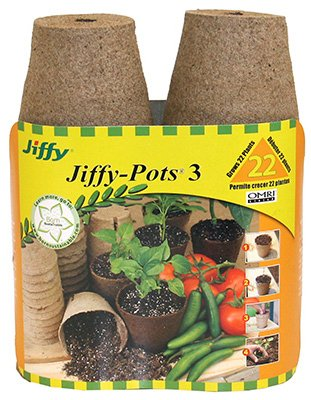 Plantation Products JP322 Round Peat Pot, 3-In, 22-Pk. - Quantity 18