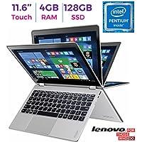 2017 Lenovo Yoga 710 11.6?? 2-in-1 IPS Touchscreen (1920 x 1080) Laptop PC, Intel Pentium Dual Core Processor, 4GB RAM, 128GB SSD, HD Graphics 615, Bluetooth, WIFI, HDMI, Windows 10, Silver