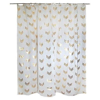 NEW Nate Berkus 72quot X Arrowshape Shower Curtains