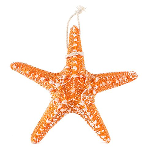 UNIQUEBELLA Nautical Beach Acrylic Plastic Polyresin Thick Starfish For Wall  House Room Home Decoration Mediterranean Style Design Color Yellow Size  Large ...