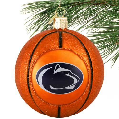 NCAA Penn State Nittany Lions 3'' Glass Basketball Ornament
