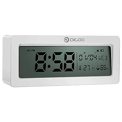 Kopper™ Multifunctional Alarm Clock with LCD Display Thermometer Hygrometer Calendar