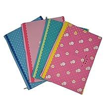 iSuperb® Document Bag 4 PCS Multi-color A4 Paper Oxford Waterproof File Holder Organizer Zipper Bag Paper Pocket Organizer Holder Bag (4 PCS Sheep Pattern)