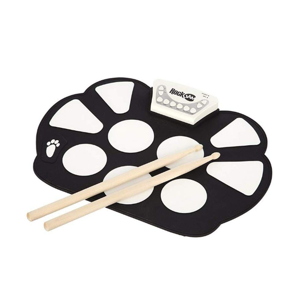 Portable Electronic Drum Kit Electronic Drum Set Practice Drum with Drum Sticks Rolled Up Drum Set with Recording Function Beginner Children Children Roll up Drum Pads