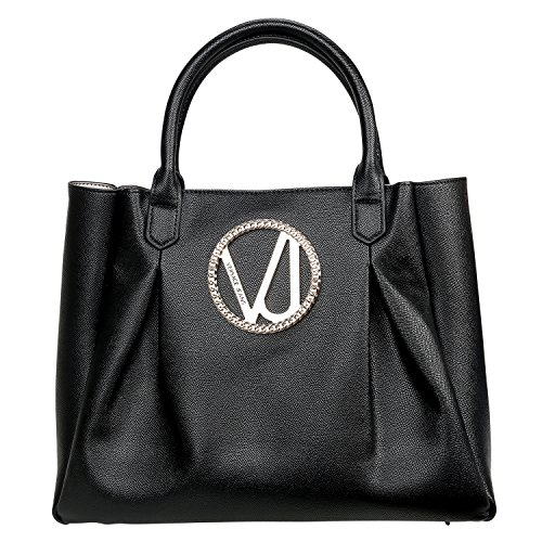 Versace Jeans Big Metal Bag Donna Vera Pelle Shopper Designer Bag Nera E1vpbbq1 75614 899