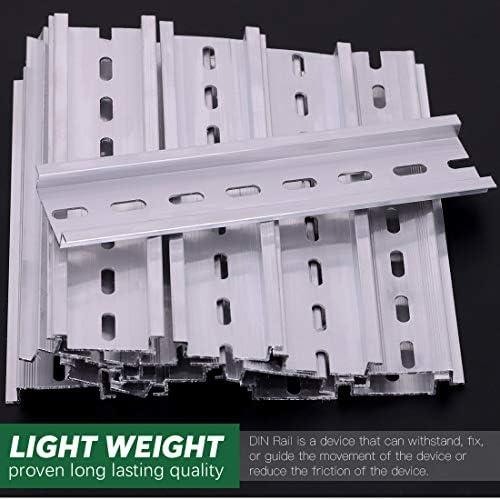 Keadic 15Pcs DIN Rail Slotted Aluminum RoHS Assortment Kit 8 ...